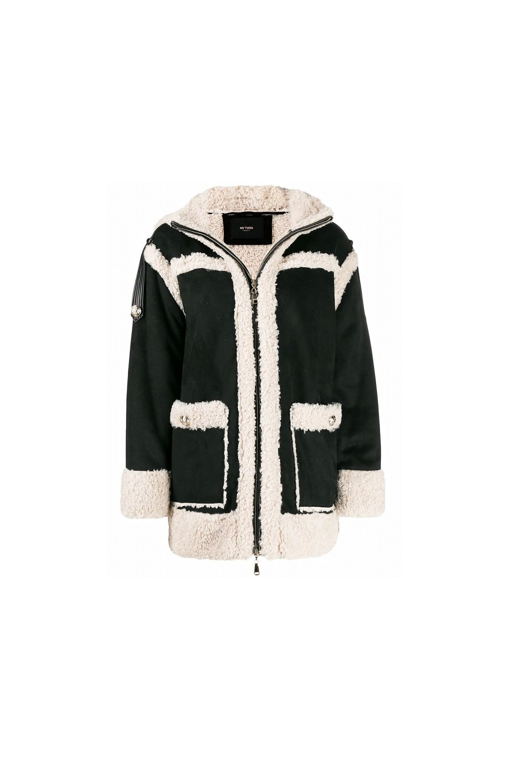 192MT2021 Dámský Twinset kabát černý