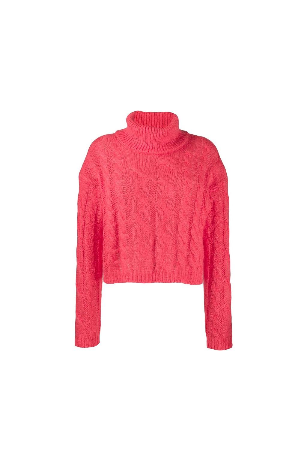 192TT3271 Dámský pletený svetr Twinset korálový