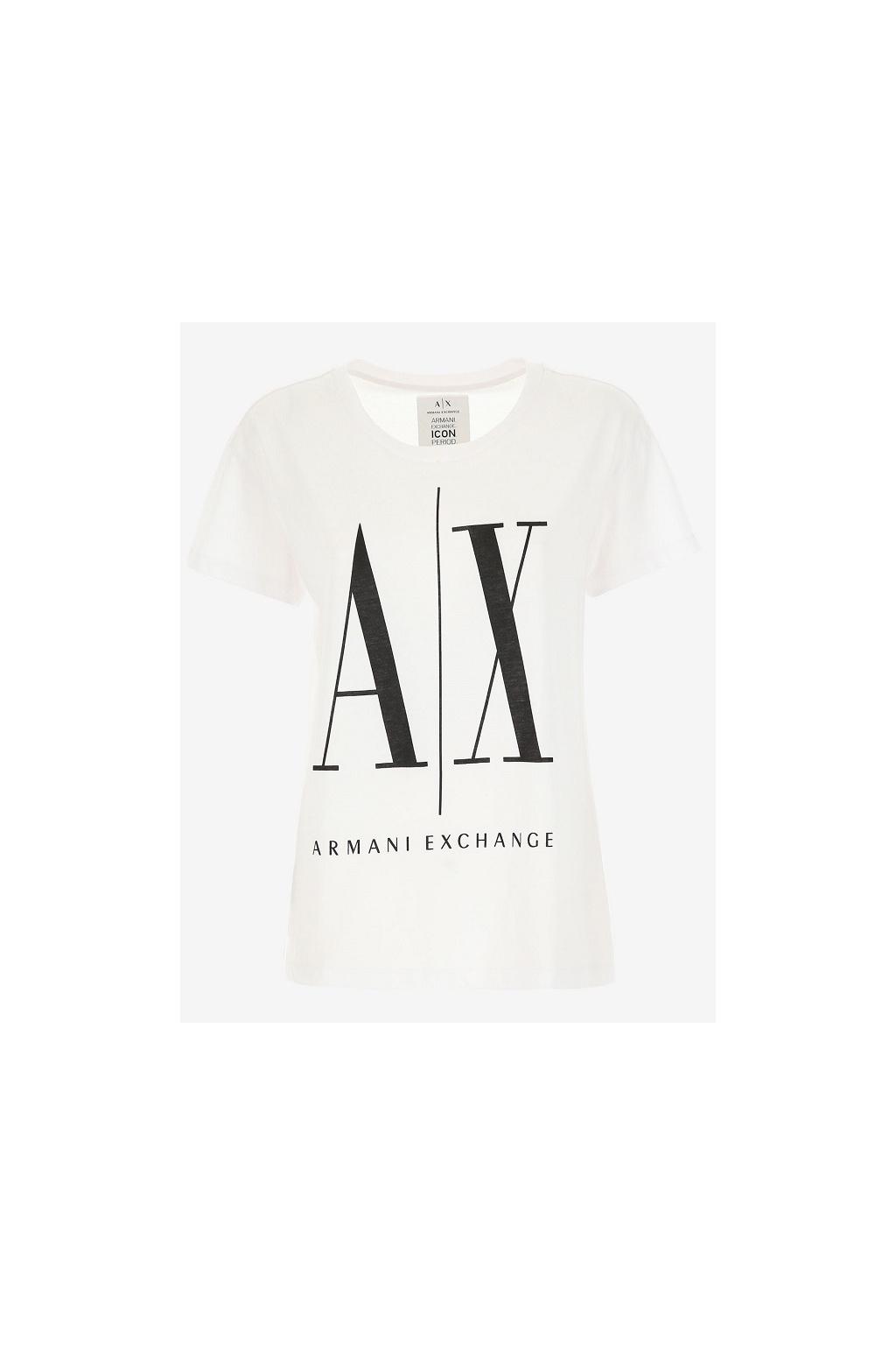 8NYTCX YJG3Z Dámské tričko Armani Exchange bílé