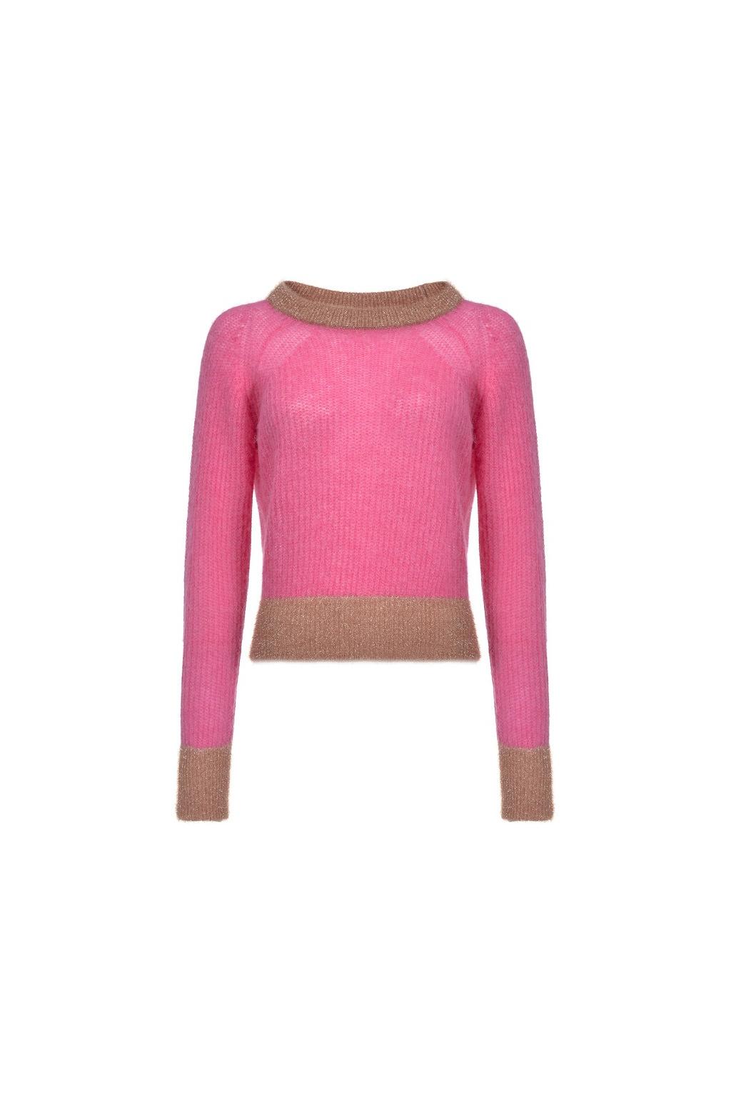 1G14D3 Y5Q6 Dámský svetr Pinko Quaggiu růžový
