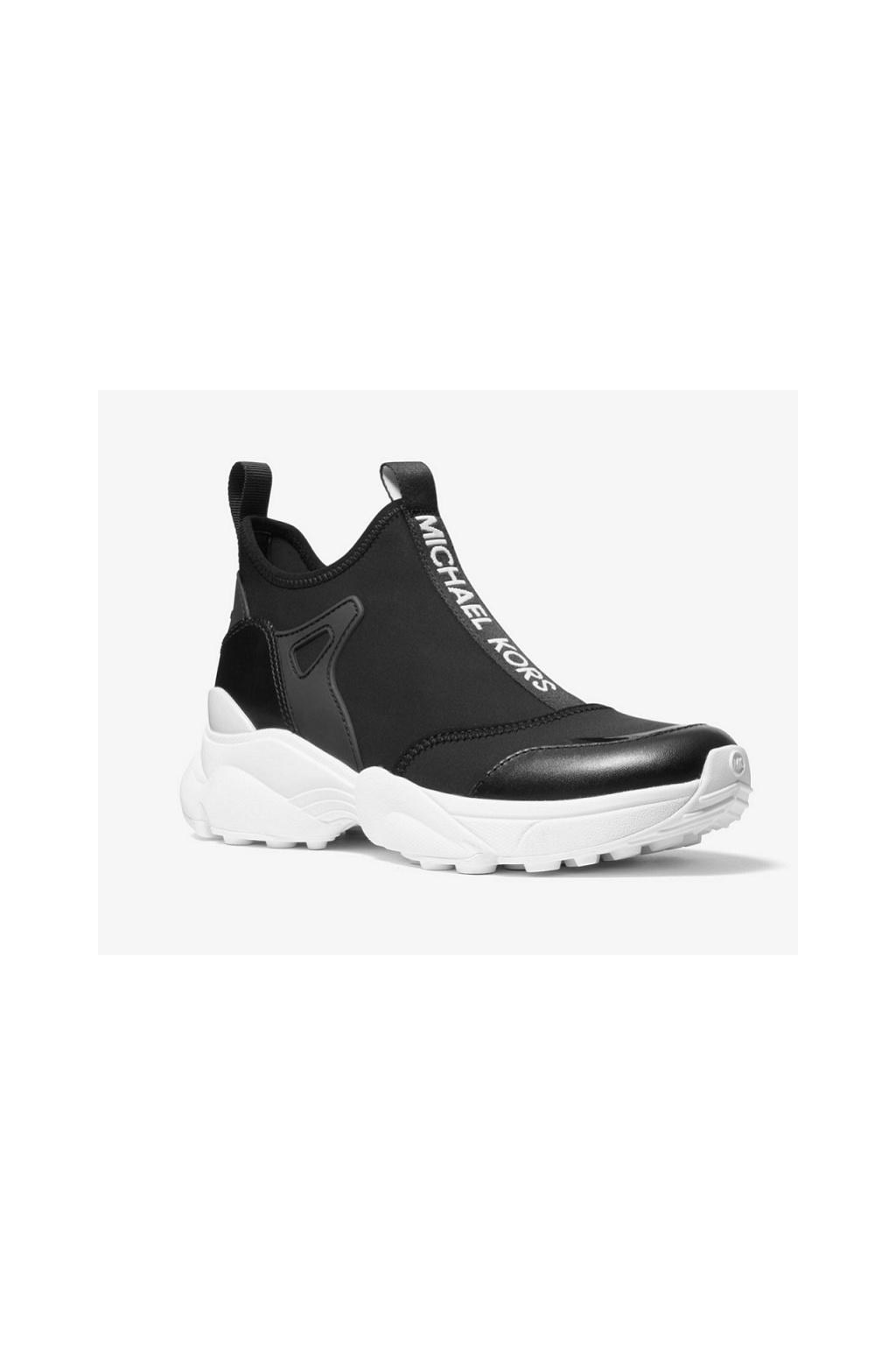 43R0WLFP1D Dámské tenisky Michael Kors Willow Scuba Leather Slip-On černé
