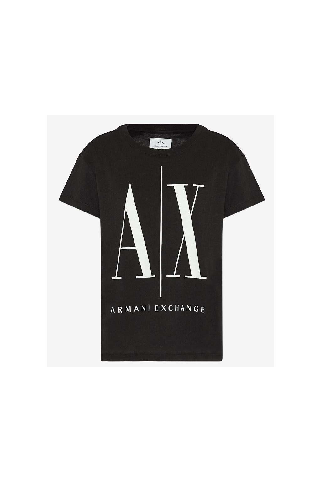 8NYTCX YJG3Z Dámské tričko Armani Exchange černé
