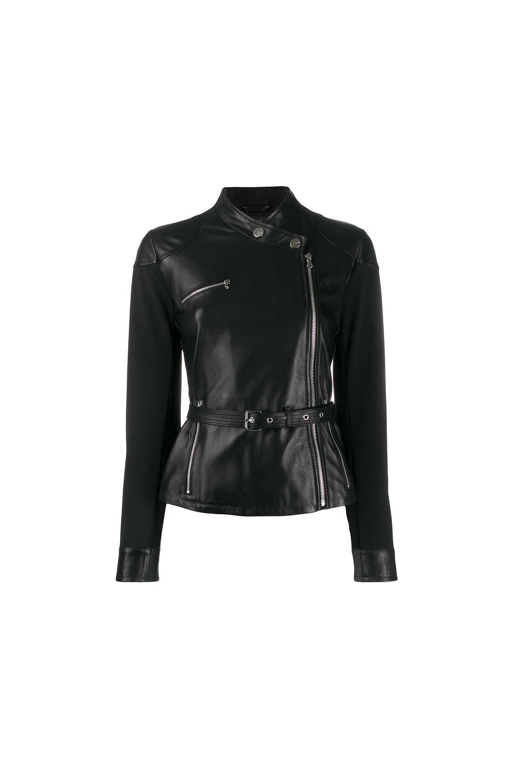 1G14SX Y636 Dámská kožená bunda Pinko Trofie černá