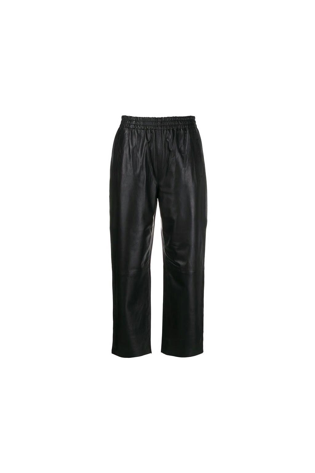 1G14P2 Y638 Dámské Pinko kožené kalhoty Toast černé
