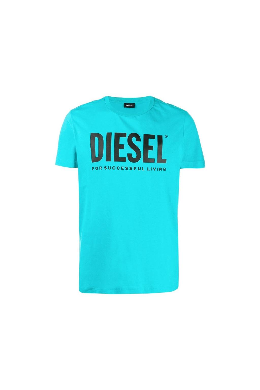 00SXED 0AAXJ Pánské Diesel tričko T Diego Logo zelené