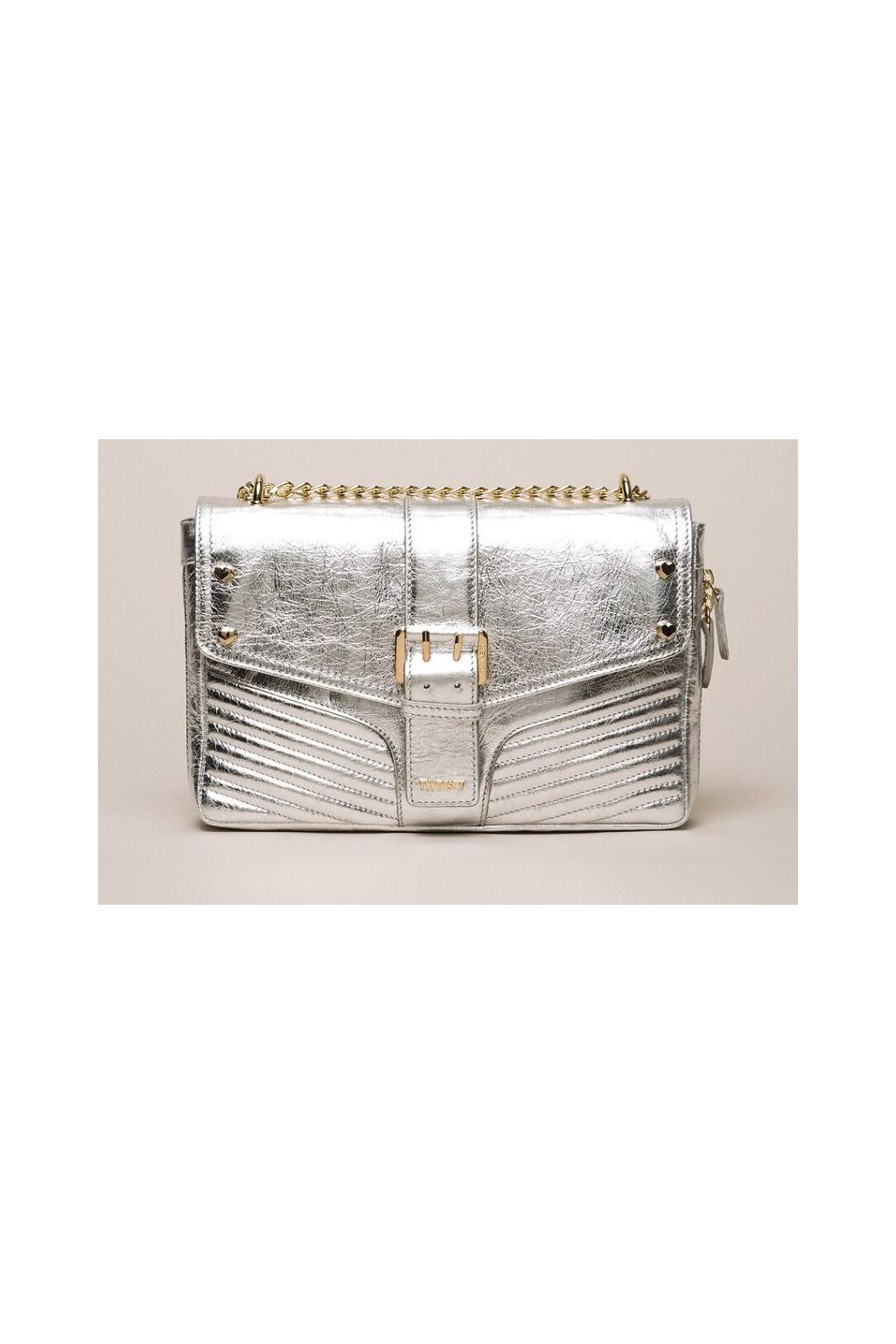 999TA7233 Dámská kabelka Twinset stříbrná