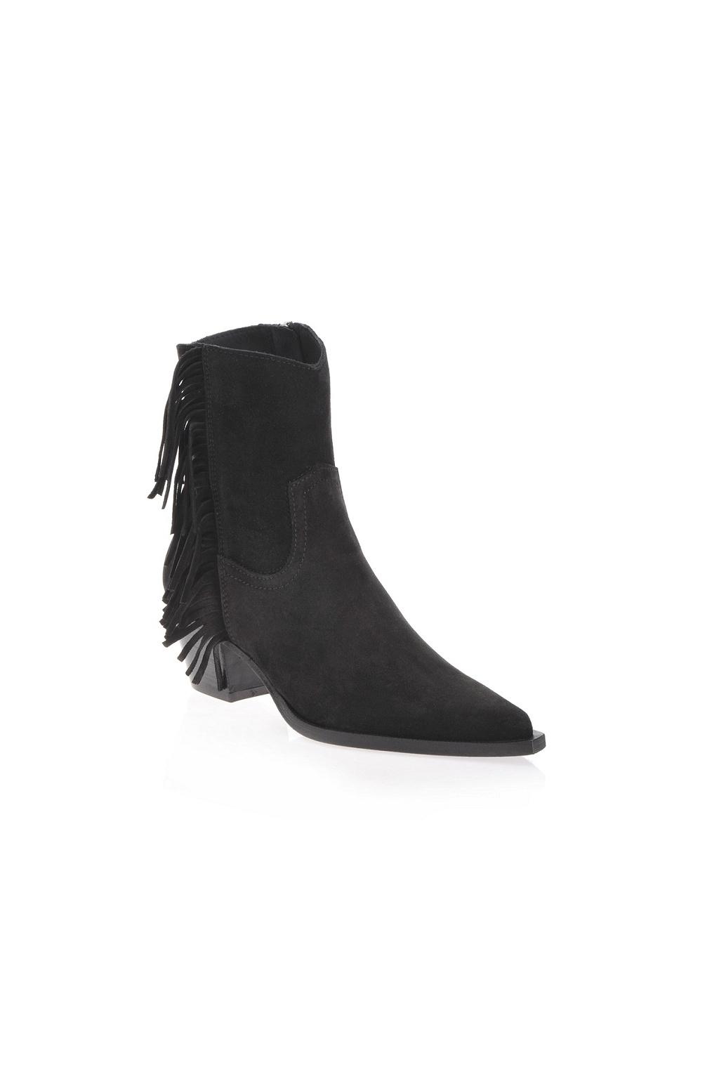 1H20QYY63H Z99 Dámská Pinko kožená obuv Zenzero Tronchetto černá