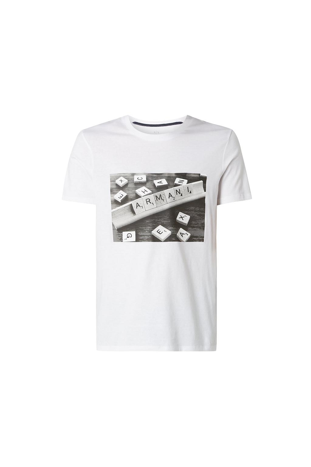 3HZTBC ZJ2HZ Pánské tričko Armani Exchange bílé
