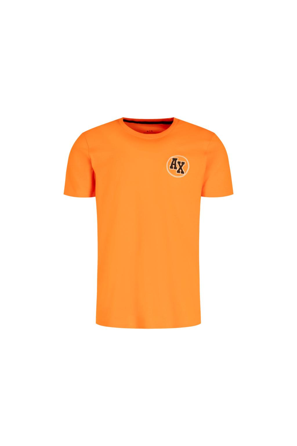 3HZTFE ZJBVZ Pánské tričko Armani Exchange oranžové