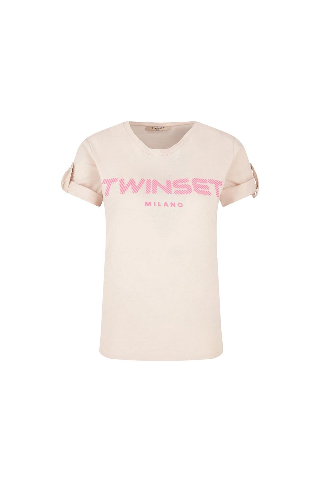 201TP2082 Dámské tričko Twinset béžové