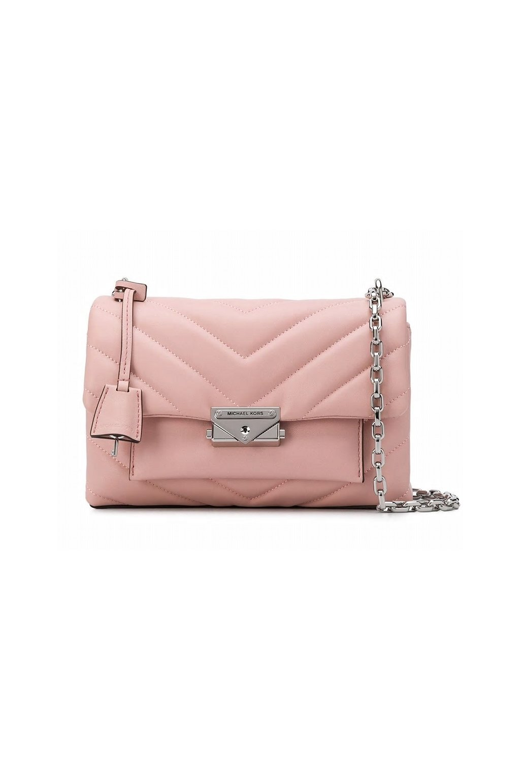30T9S0EL8L Dámská kabelka Michael Kors Cece Medium Quilted Leather Convertible Shoulder růžová