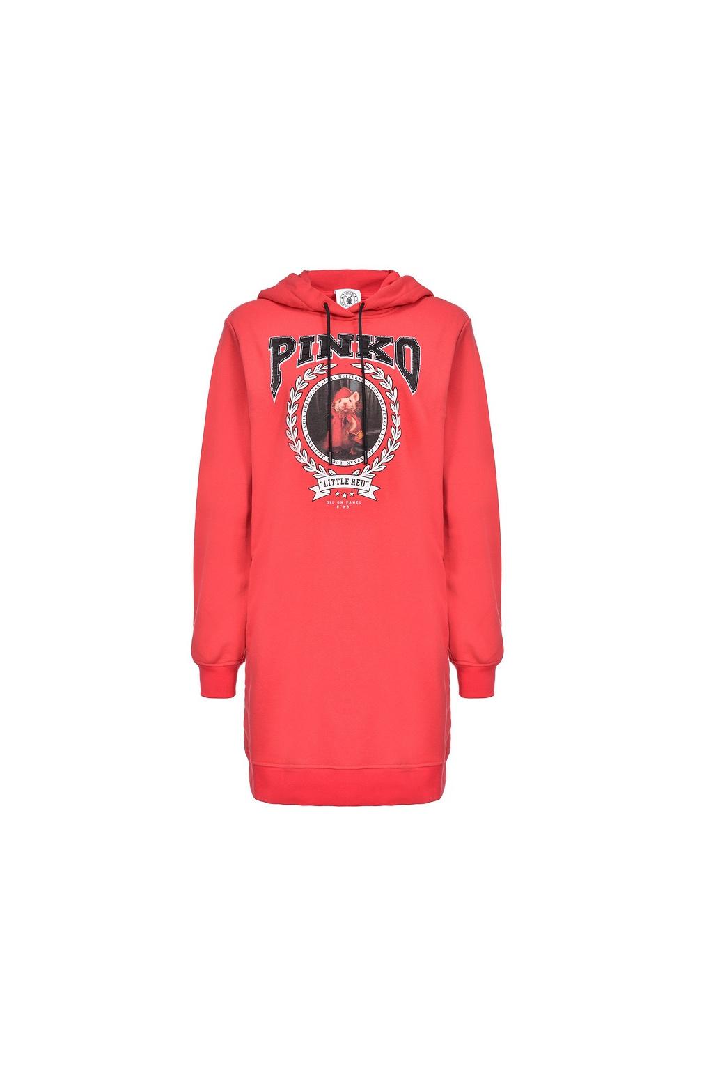 1N12MRY68G R47 Dámské šaty Pinko Obsidian červené