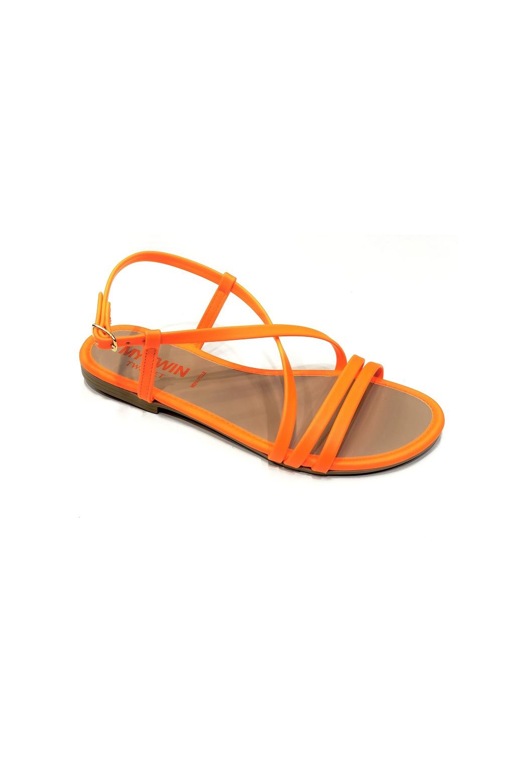 201MCT010 Dámské sandály Twinset oranžové