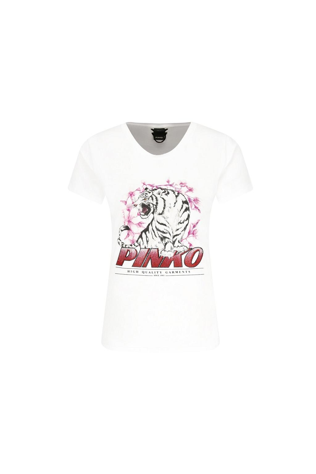 1B14J3 WOY1 Dámské tričko Pinko Pimpi bílé
