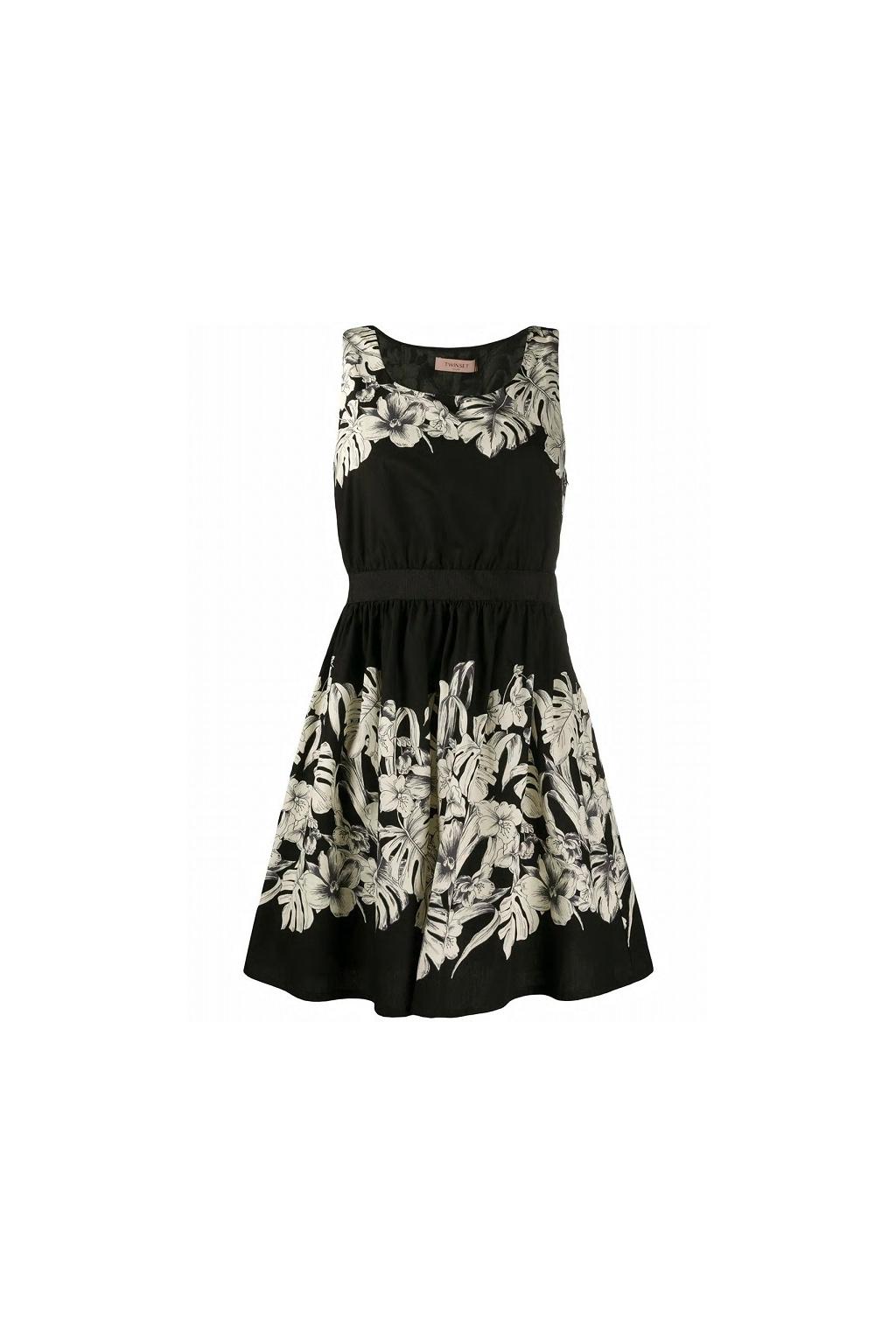 201TT2312 Dámské šaty Twinset černé