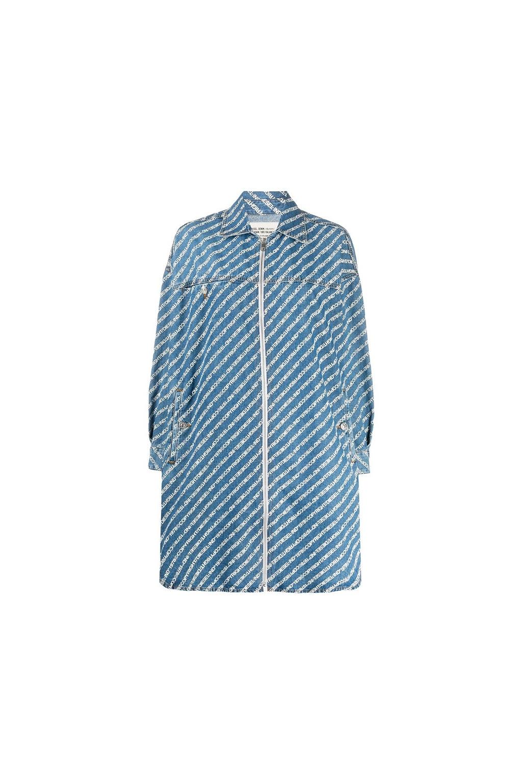 00SFQM 0BAYE Dámské riflové šaty Diesel De Slyx modré