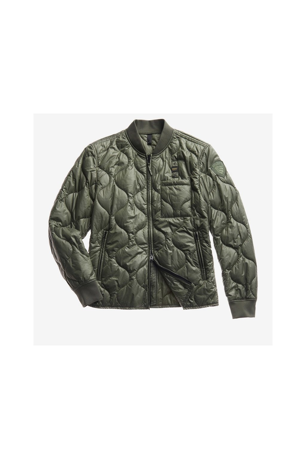 20SBLUC02049 Pánská bunda Blauer péřová zelená