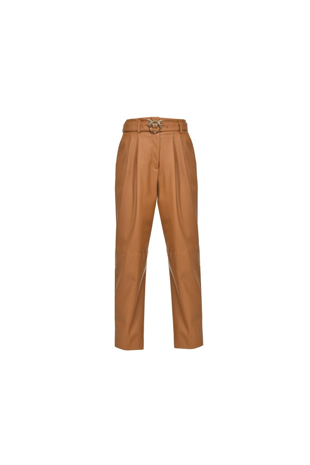 1N12V07105 M19 Dámské Pinko kalhoty Raphaela hnědé
