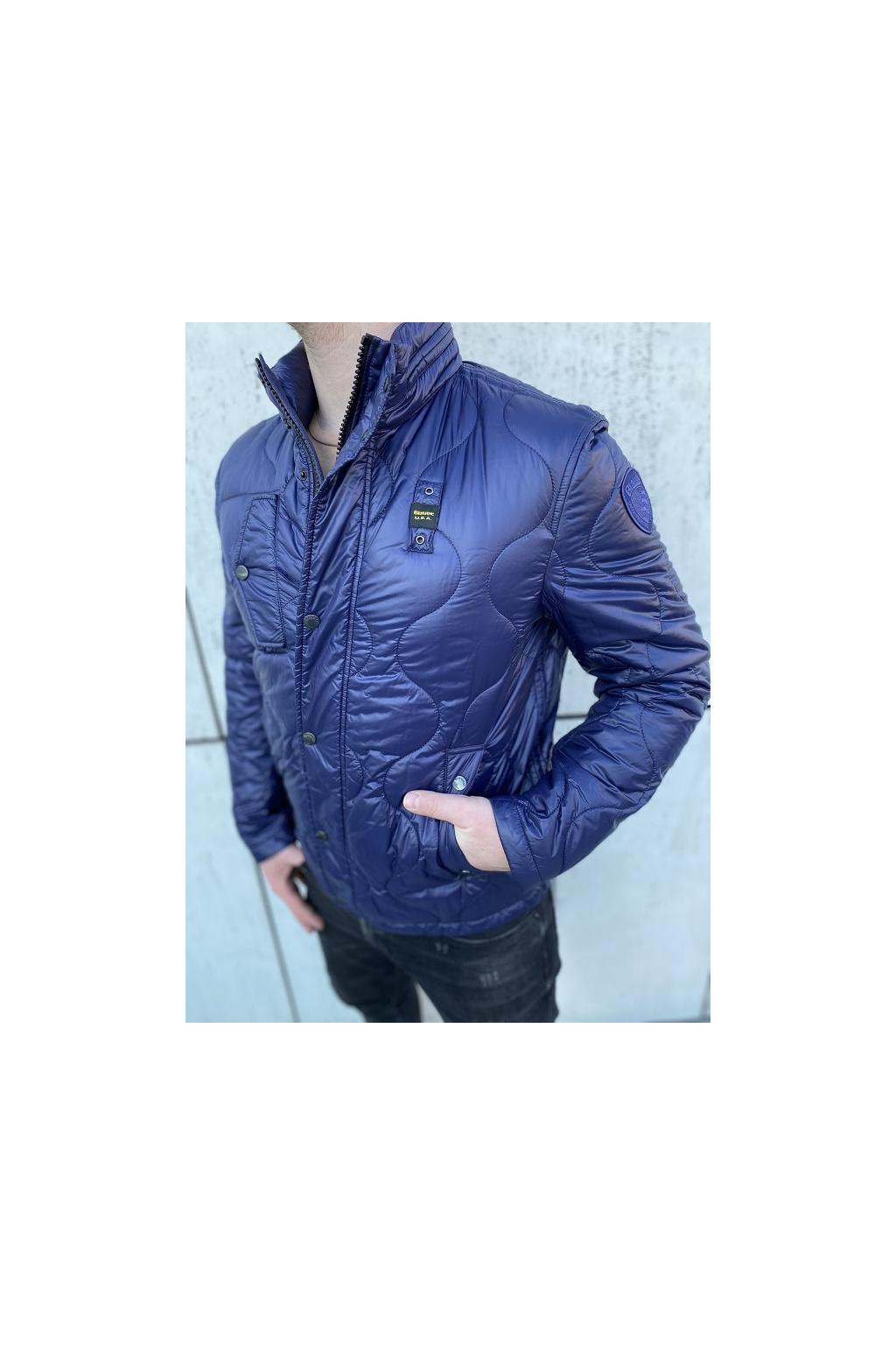 20SBLUC02053 Pánská jarní bunda Blauer péřová modrá