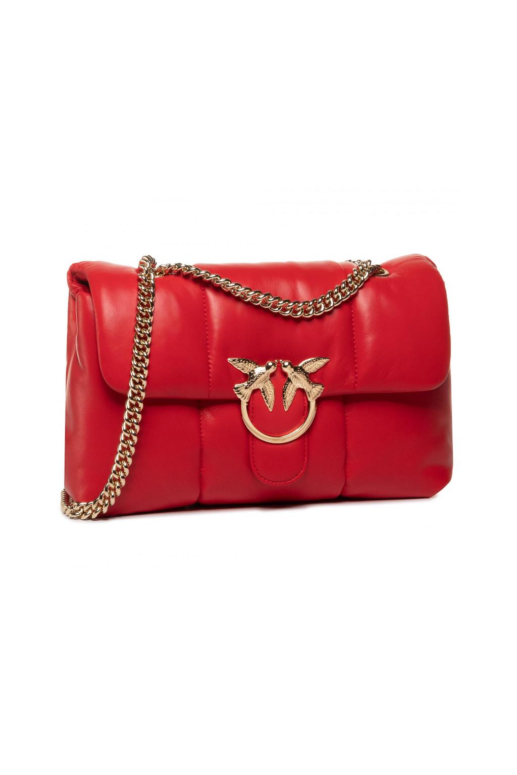 8052777689829 Dámská kabelka Pinko Love Bag Puff Quilting Cl červená
