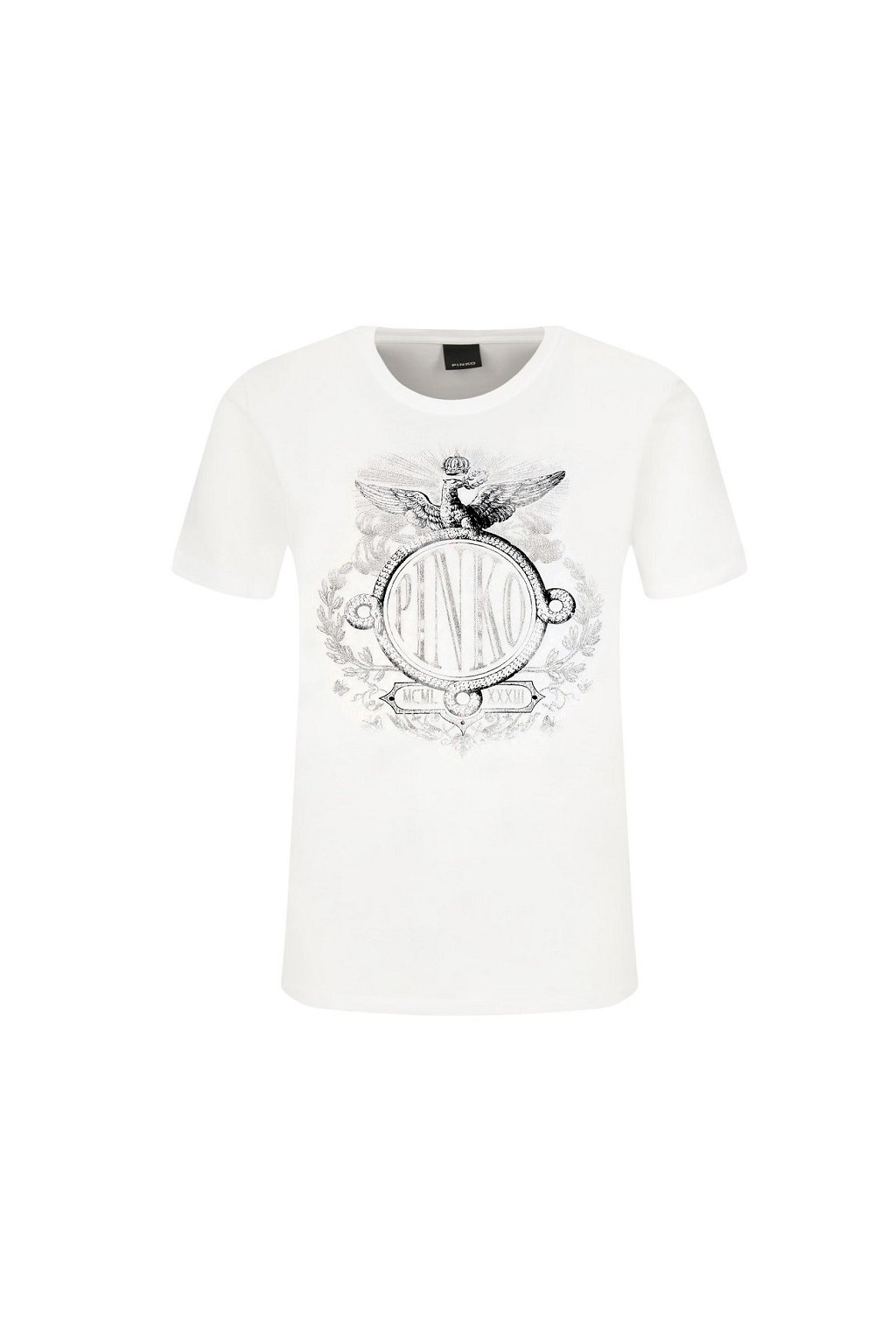 1G15B4 Y651 Dámské tričko Pinko Demetrio bílé