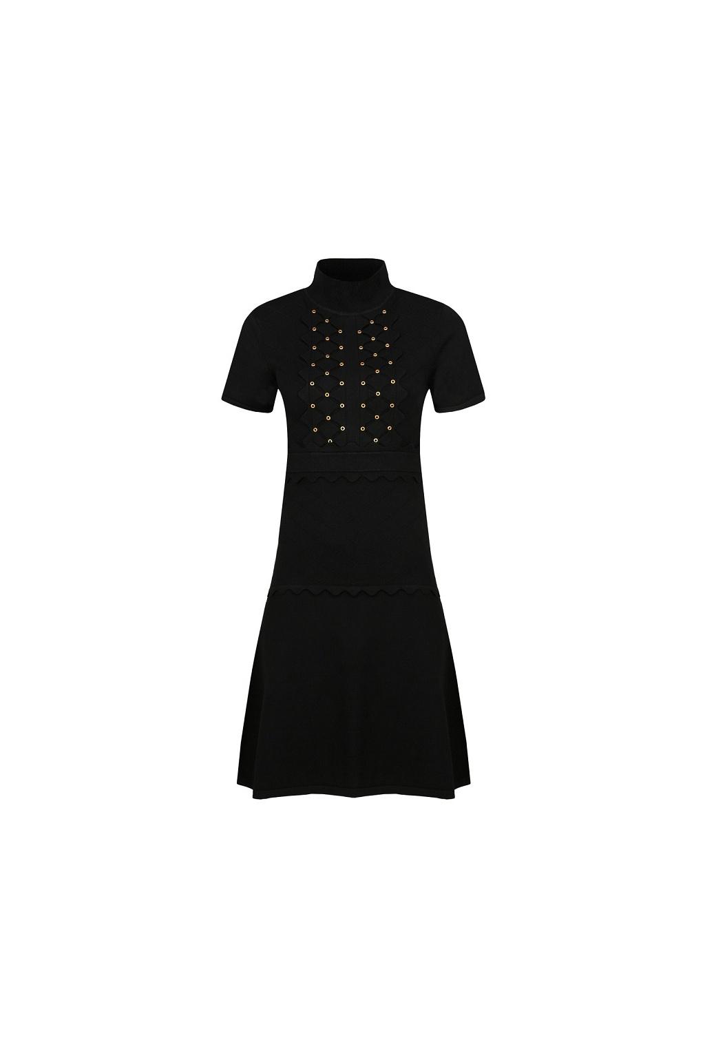 1G155M Y6E6 Dámské šaty Pinko Dominica černé