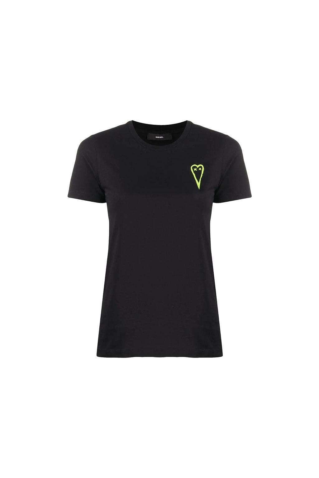 A00251 0HERA Dámské tričko Diesel T Sily černé
