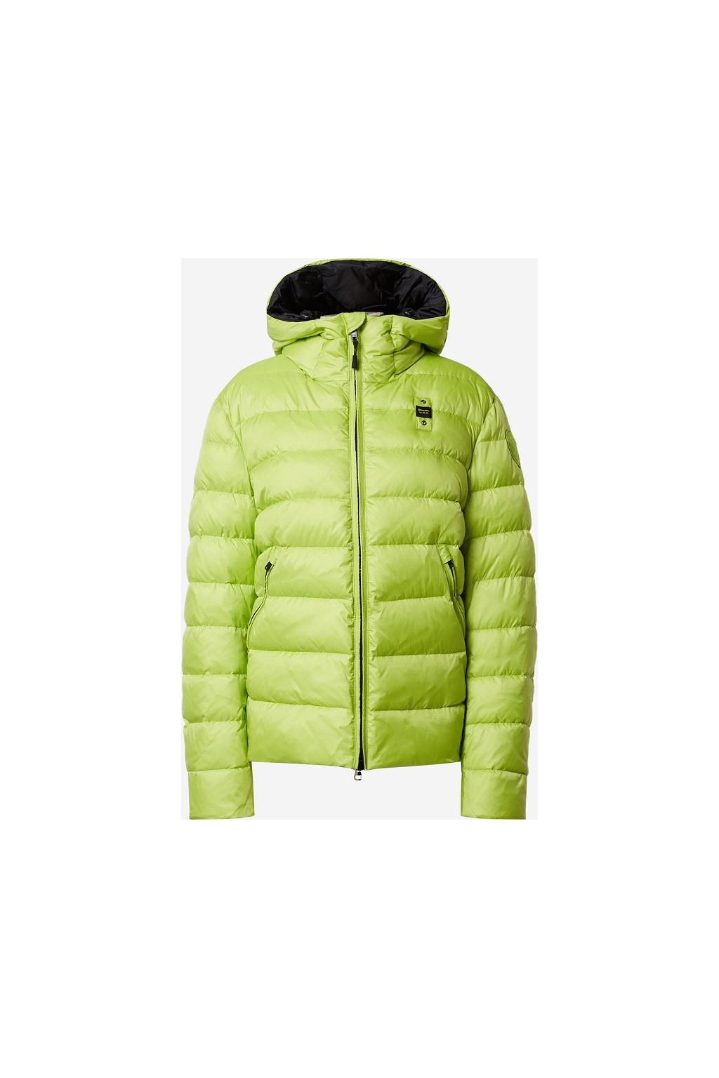 20WBLUC02155 Pánská péřová bunda Blauer zelená