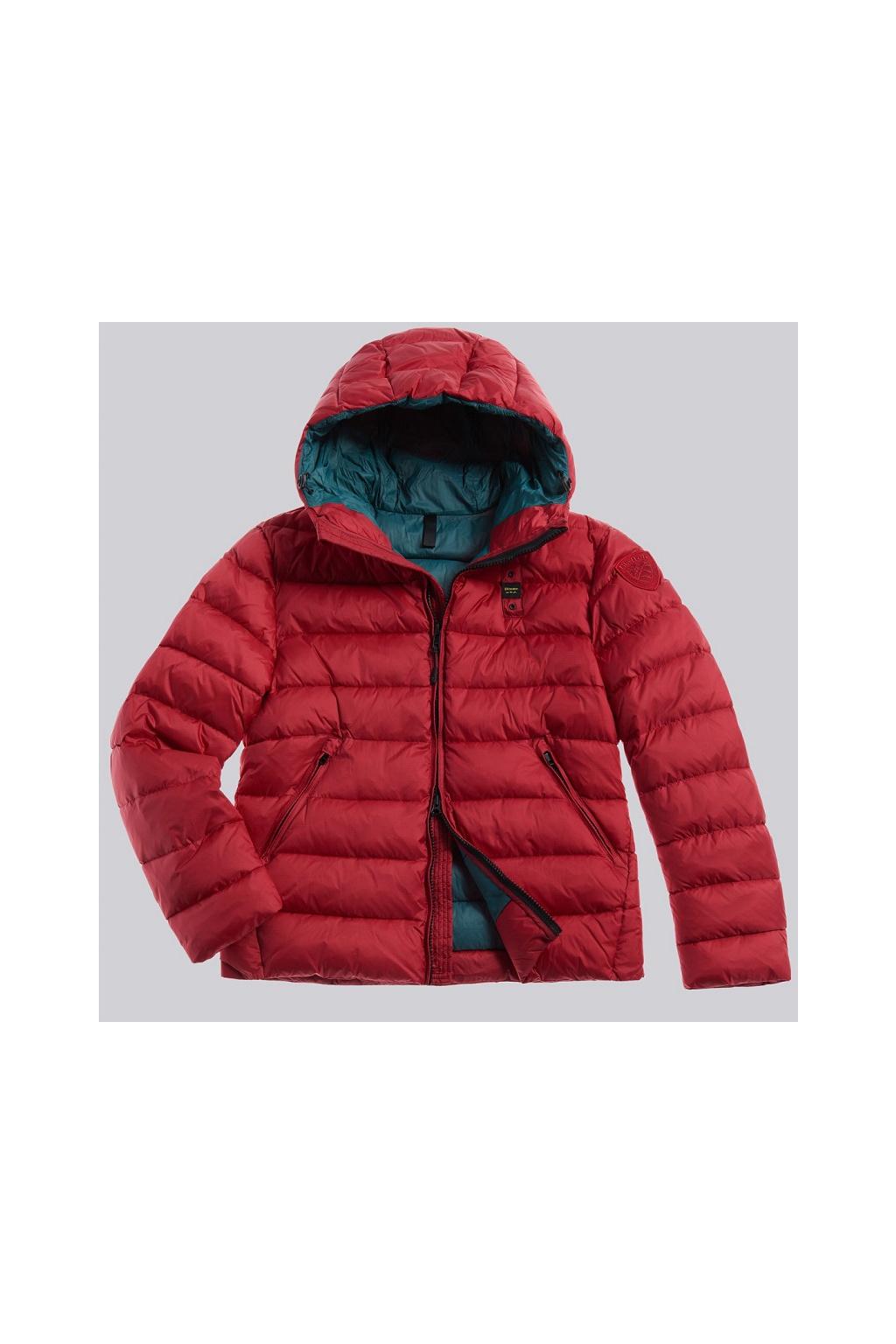 20WBLUC02155 005486 552 Pánská péřová bunda Blauer červená