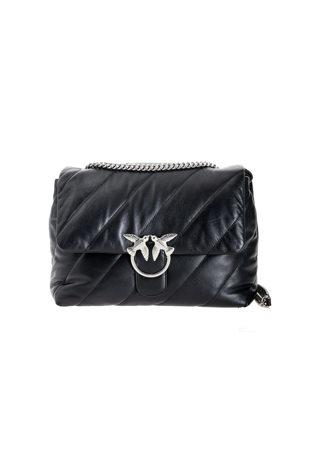 1P21VMY6JK Z99 Dámská kabelka Pinko Big Love Bag Puff Maxi Quilt In Nappa černá
