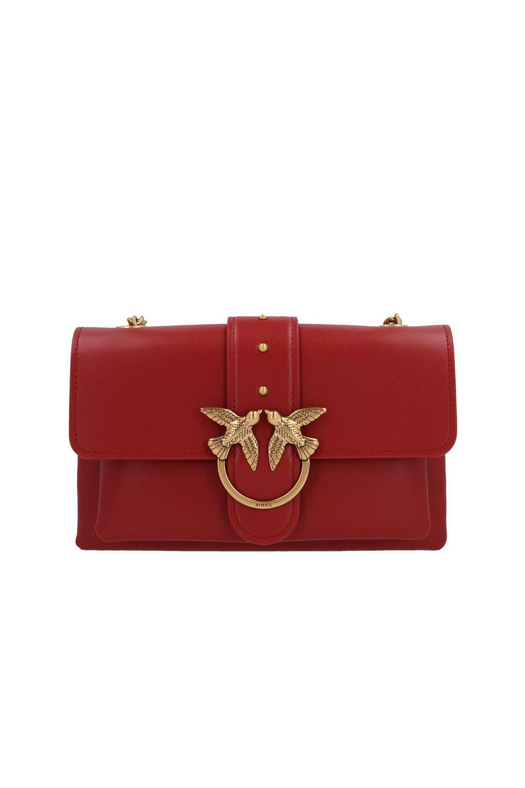 1P21SK Y6JCR72 Dámská kabelka Pinko Love Mini Soft Simply Cl červená