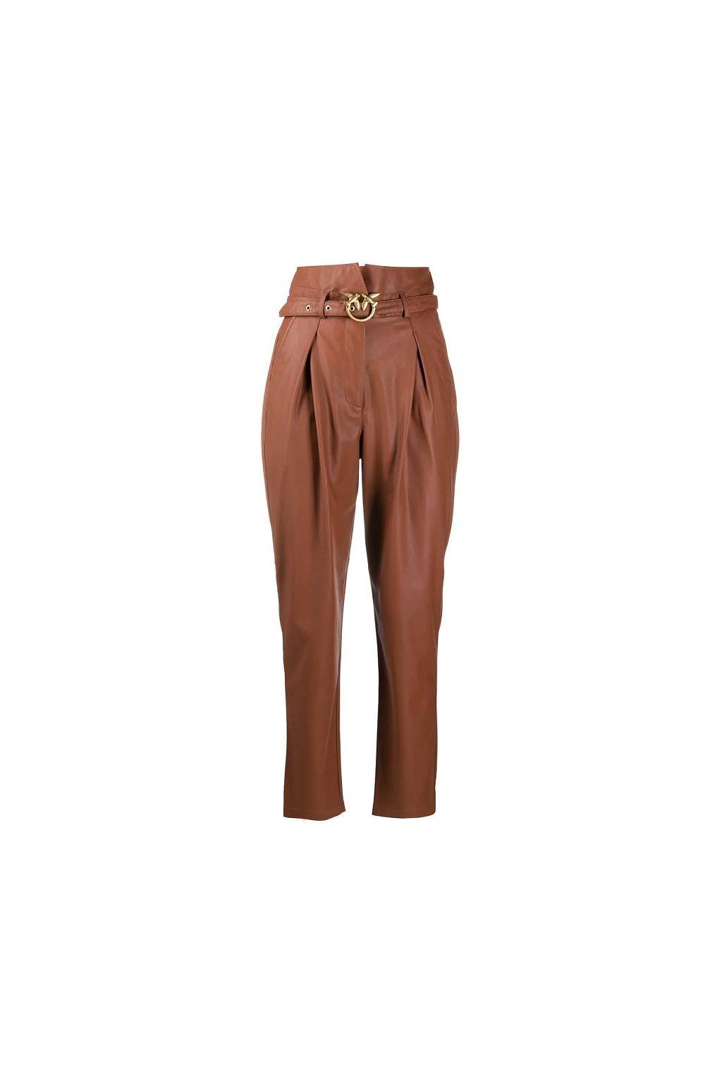 1N12V0 7105 Dámské kalhoty Pinko Aurelio hnědé