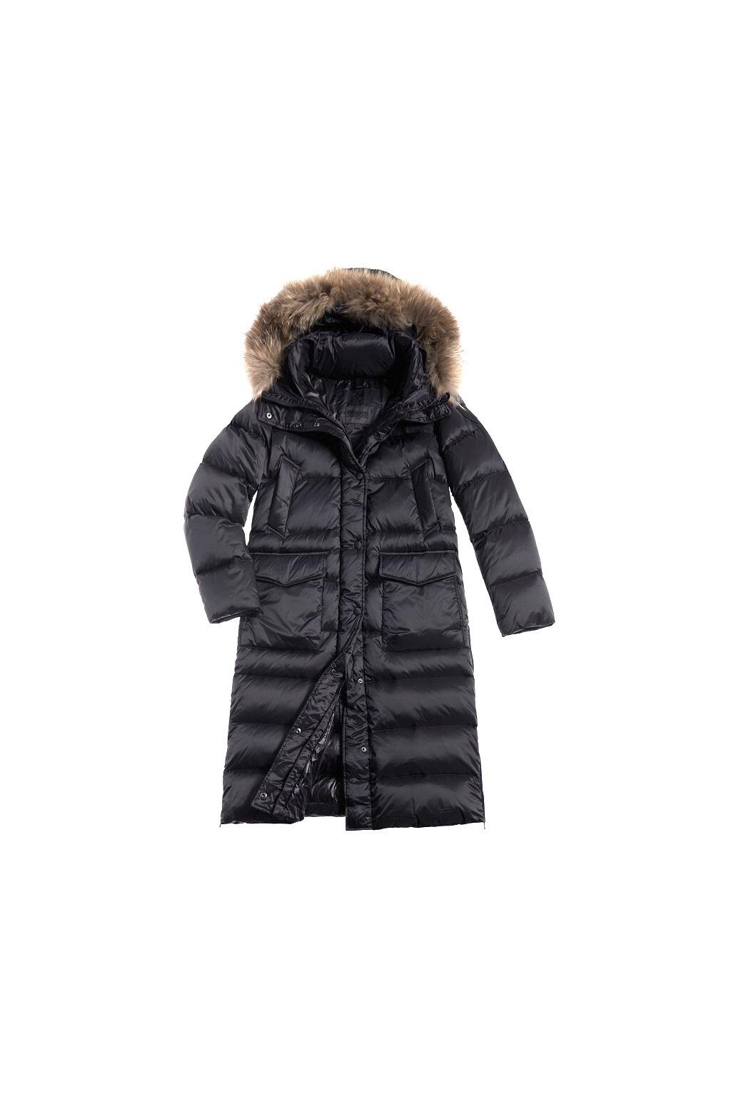 20WBLDK03151 Dámský péřový kabát Blauer černý