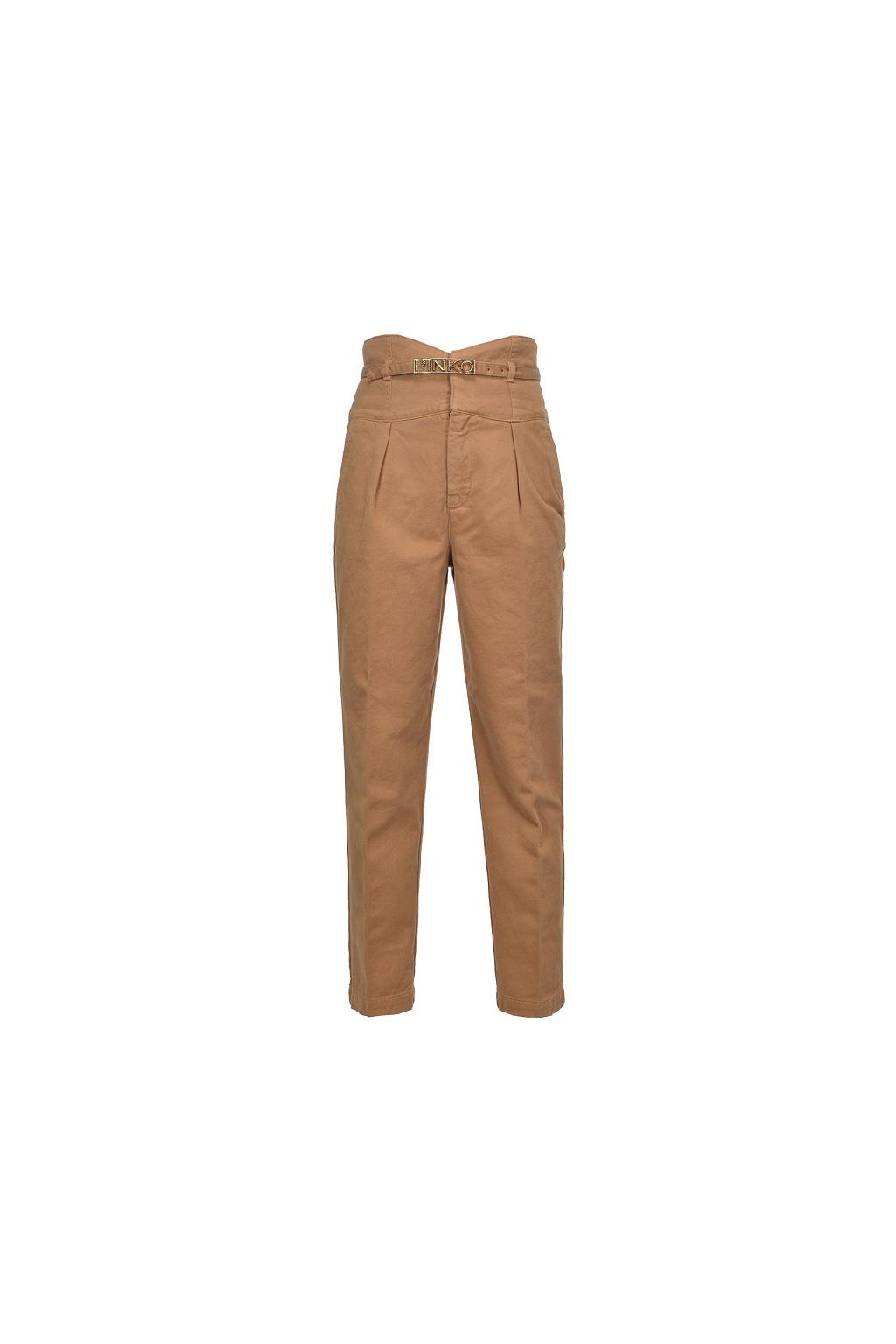 1J10J9Y6FH M07 Dámské kalhoty Pinko Ariel 5 Bustier PJ340B béžové