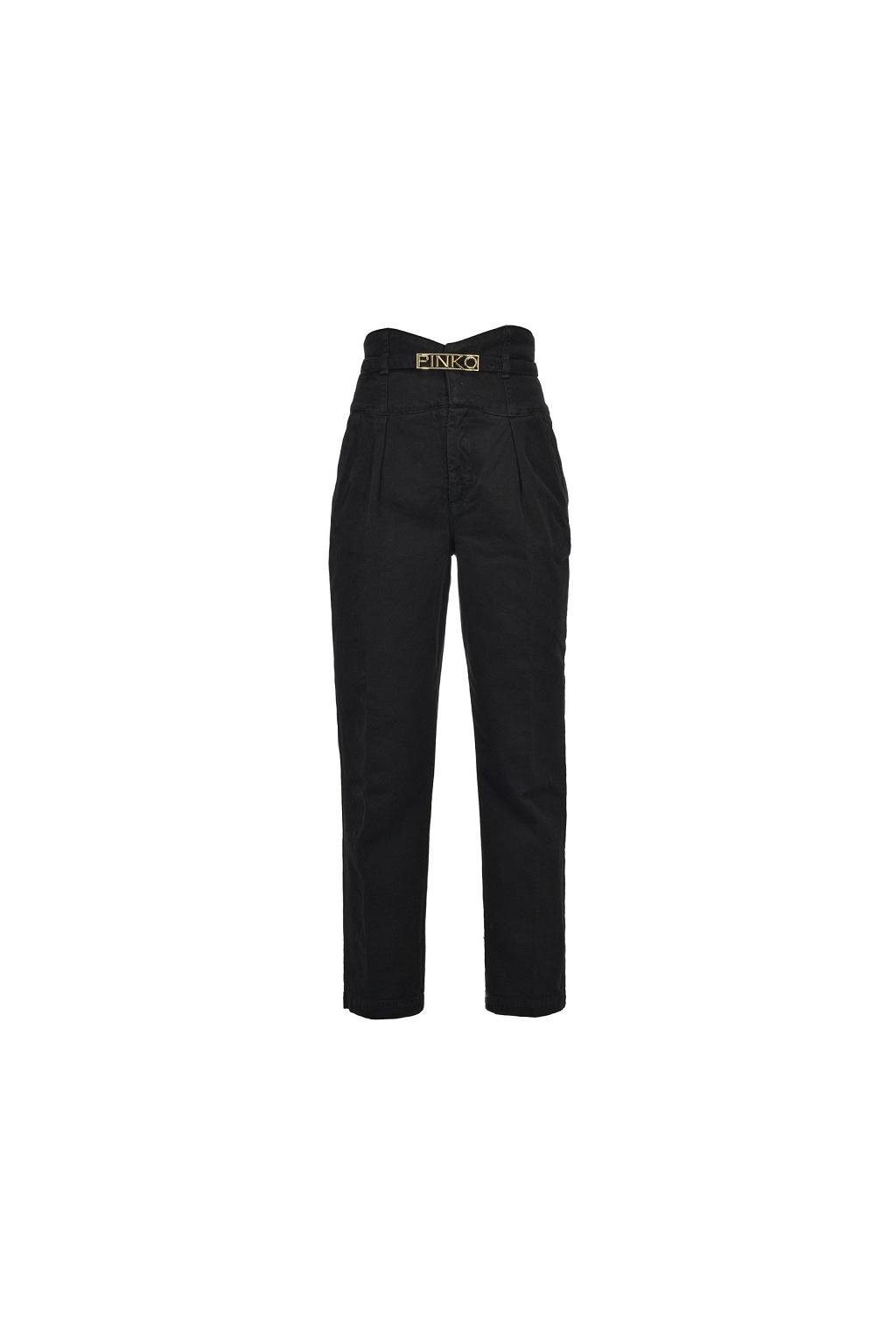 1J10J9Y6FH Z99 Dámské kalhoty Pinko Ariel 5 Bustier PJ340B černé