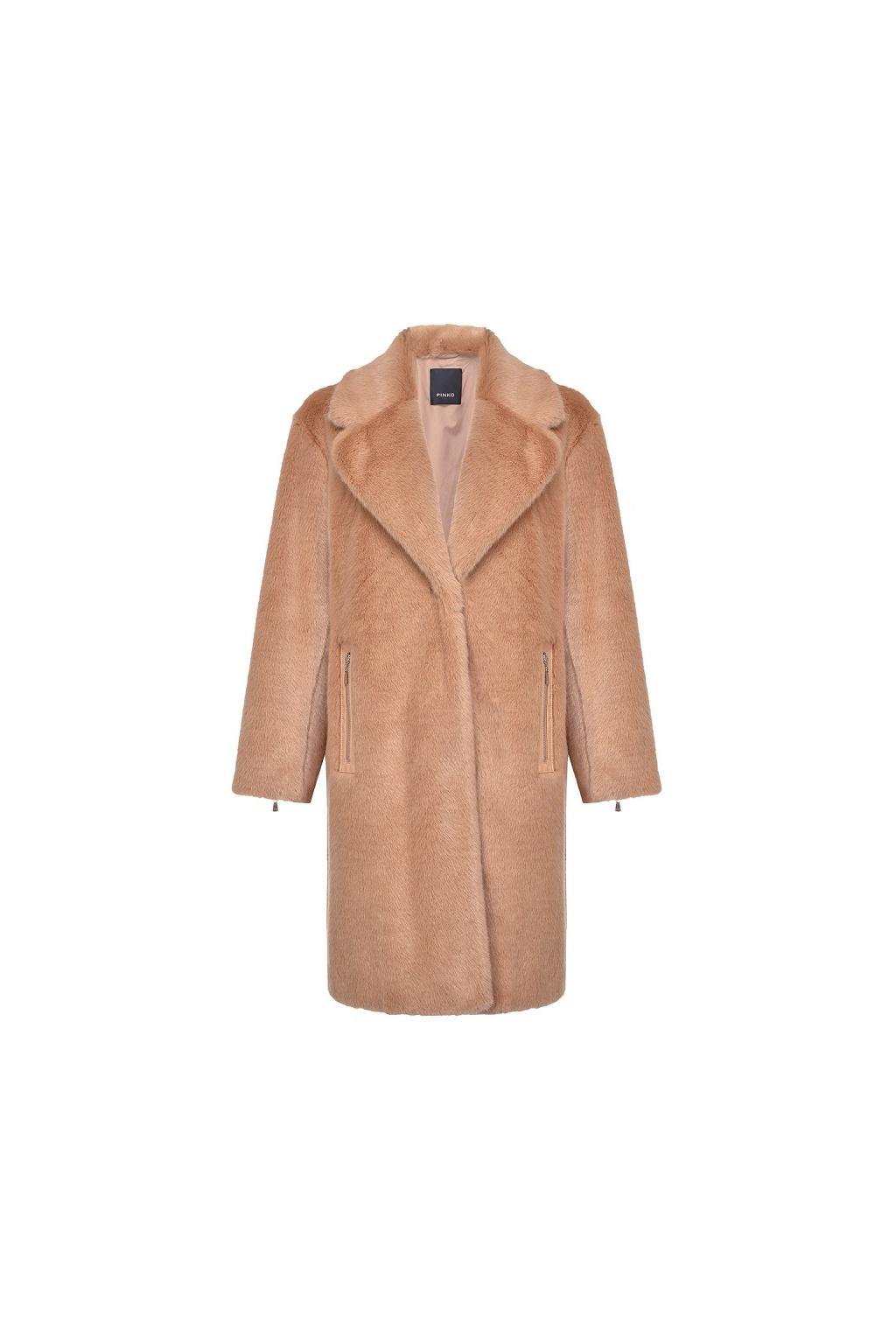 1G1556Y6BR C81 Dámský kabát Pinko Evaristo béžový