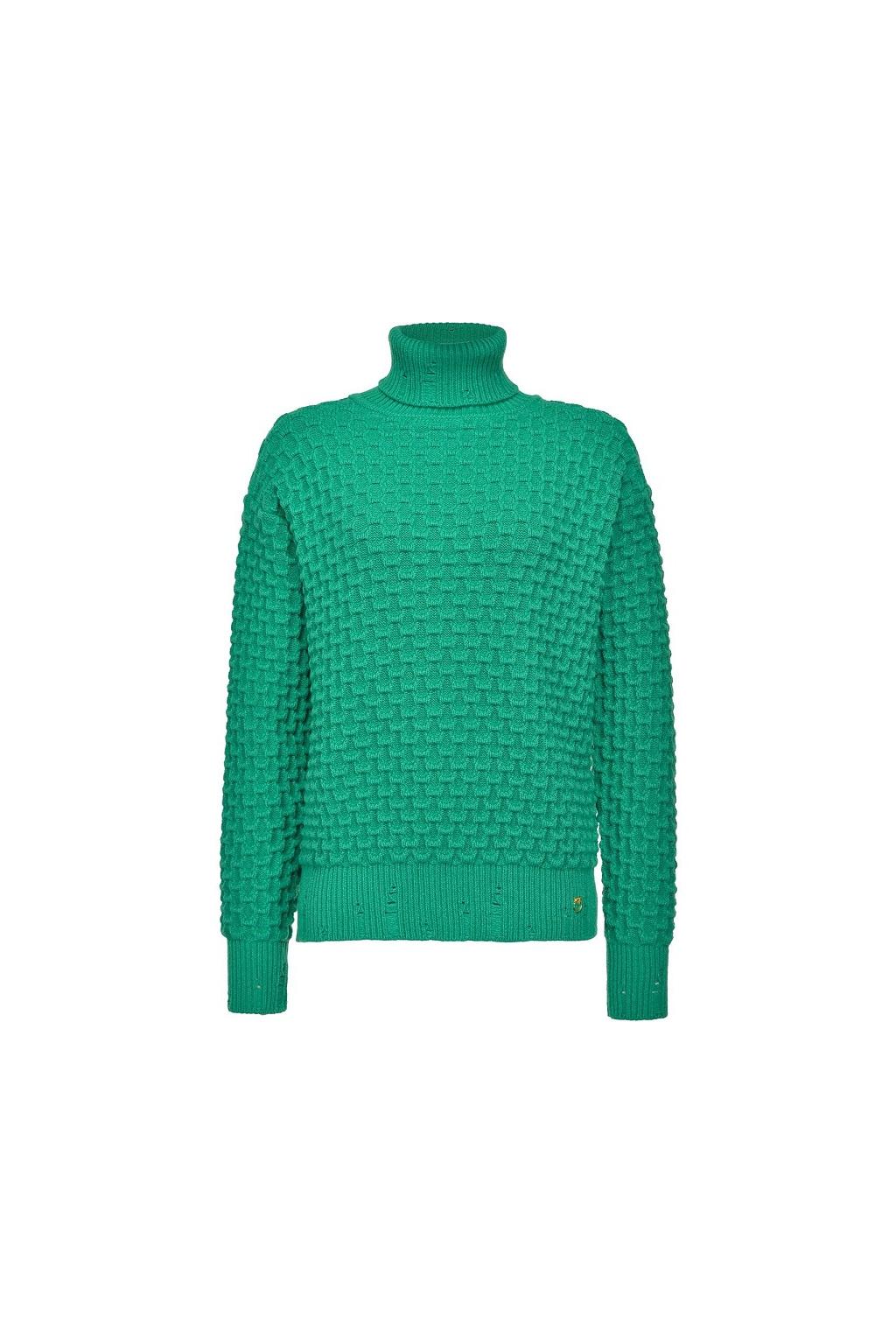1B14X2 Y6QP T68 Dámský svetr Pinko Nuvolosita zelený