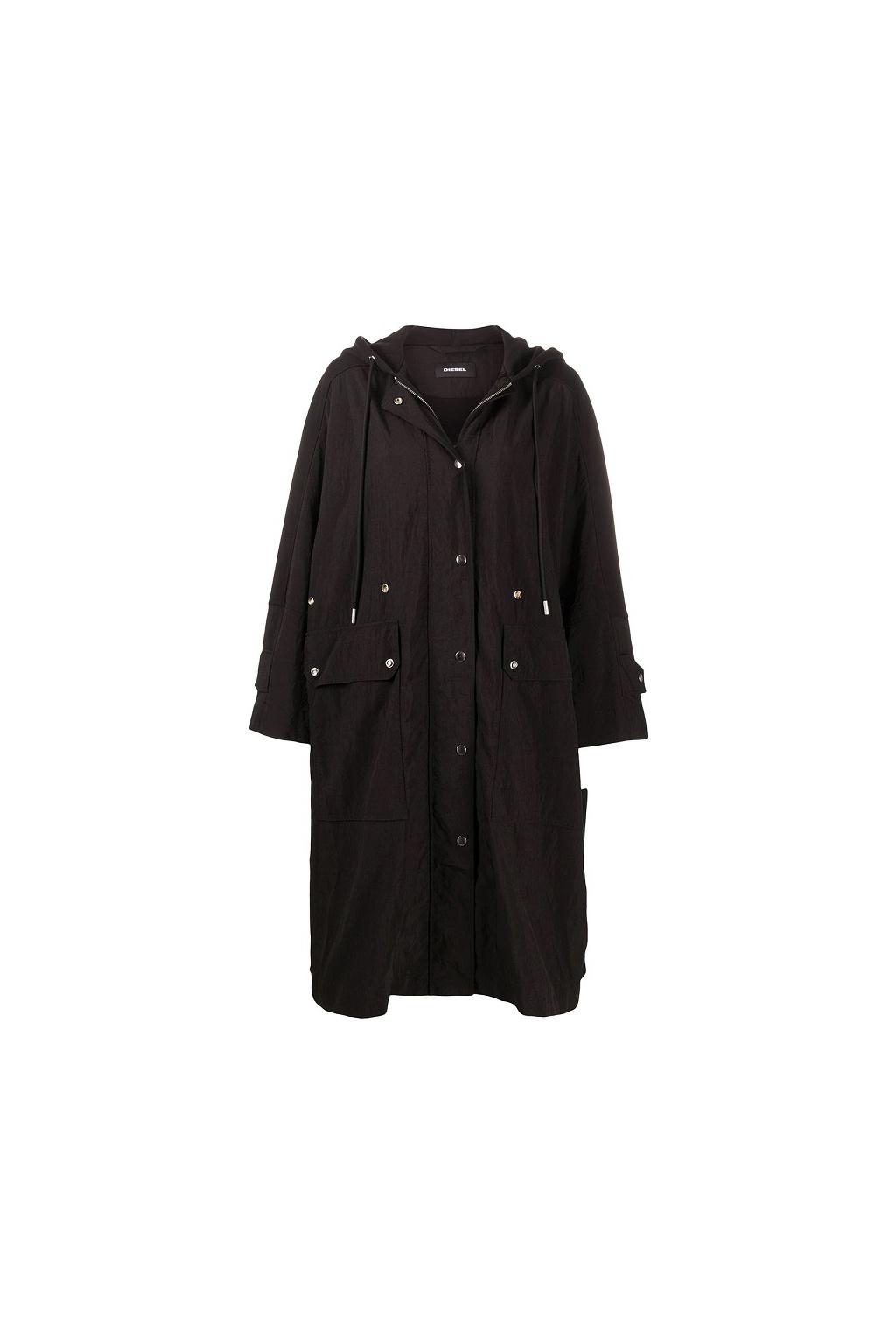 A00048 0LAYP 9XX Dámský kabát Diesel G alaxy černý