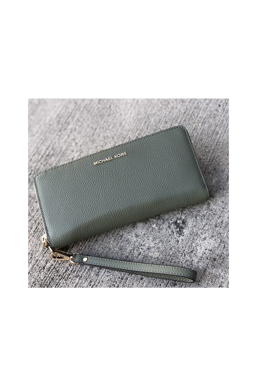 Dámská peněženka Michael Kors Jet Set Travel Continental Leather zelená