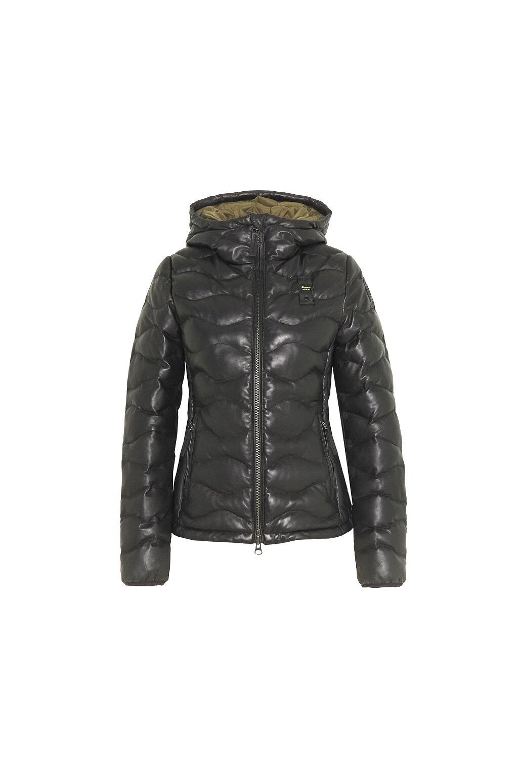 20WBLDL01143 005519 999 Dámská kožená bunda Blauer černá