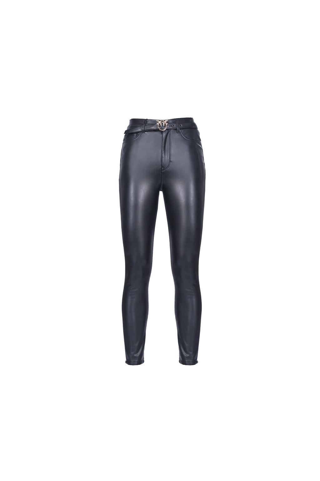 1G15KTY6GQ Z99 Dámské kalhoty Pinko Susan 6 Skinny černé