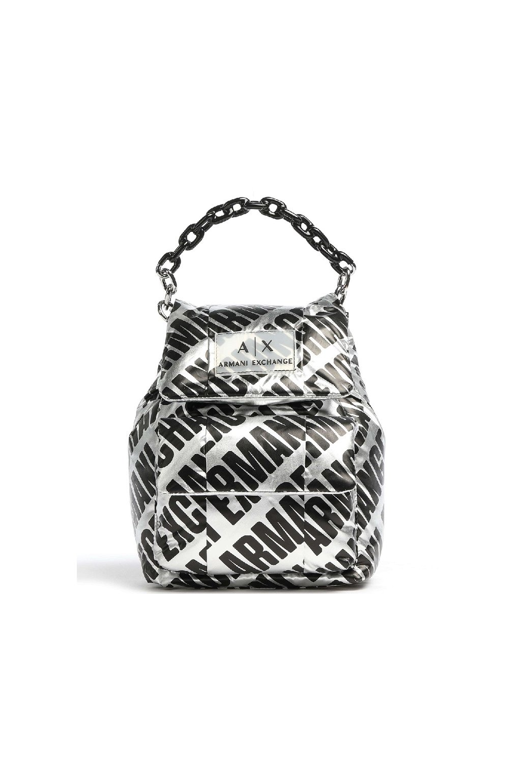 942668 0A842 04117 Dámský batoh Armani Exchange stříbrný