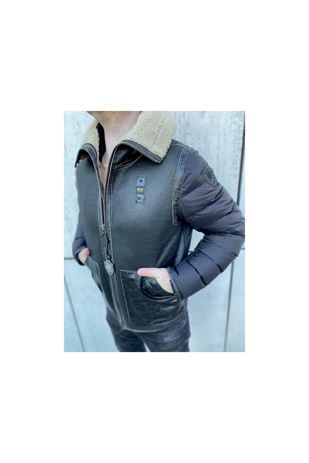 20WBLUL01137 005791 999 Pánská bunda Blauer černá