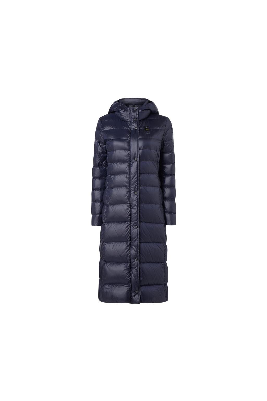 20WBLDK03399 888 Dámský péřový kabát Blauer modrý