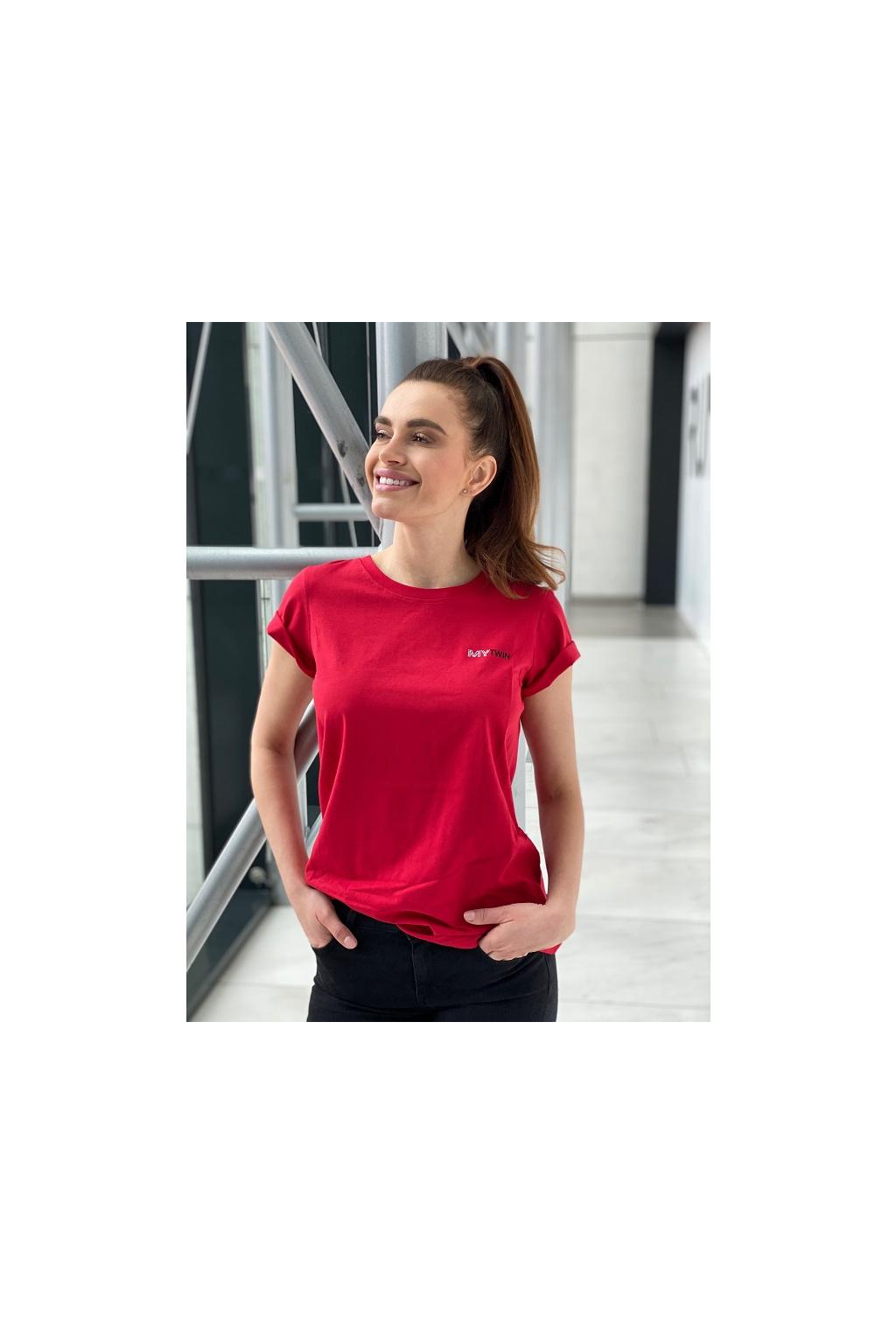 Dámské tričko Twinset 202MP2361 červené