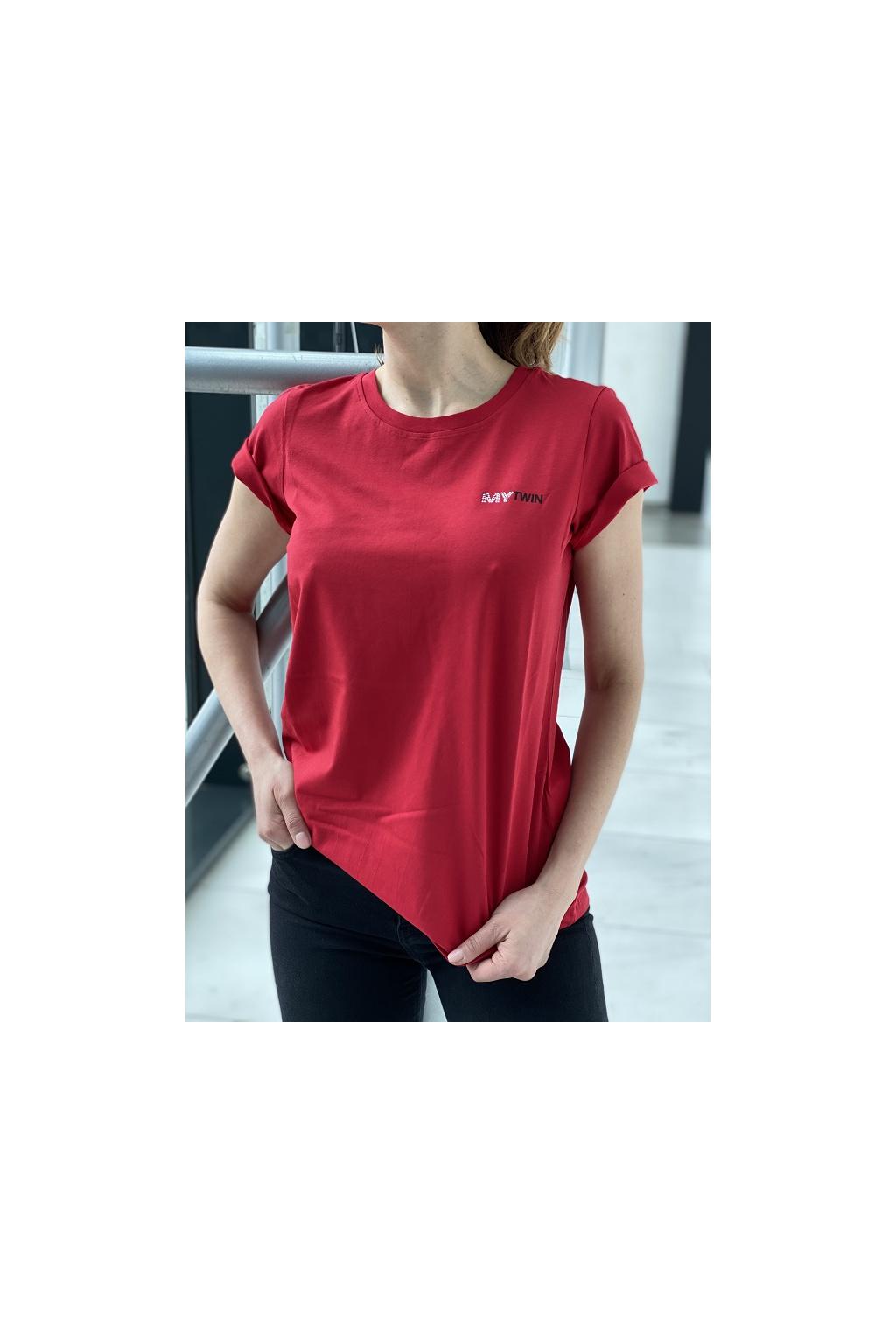 202MP2361 00034 Dámské tričko Twinset červené