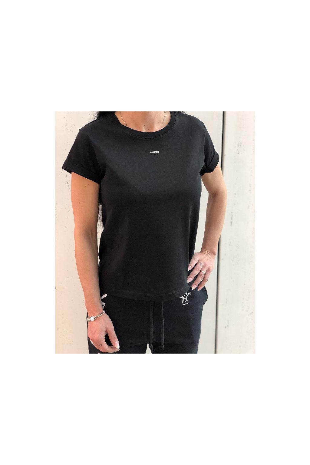 1G1649 Y4LX Z99 Dámské tričko Pinko Basico černé