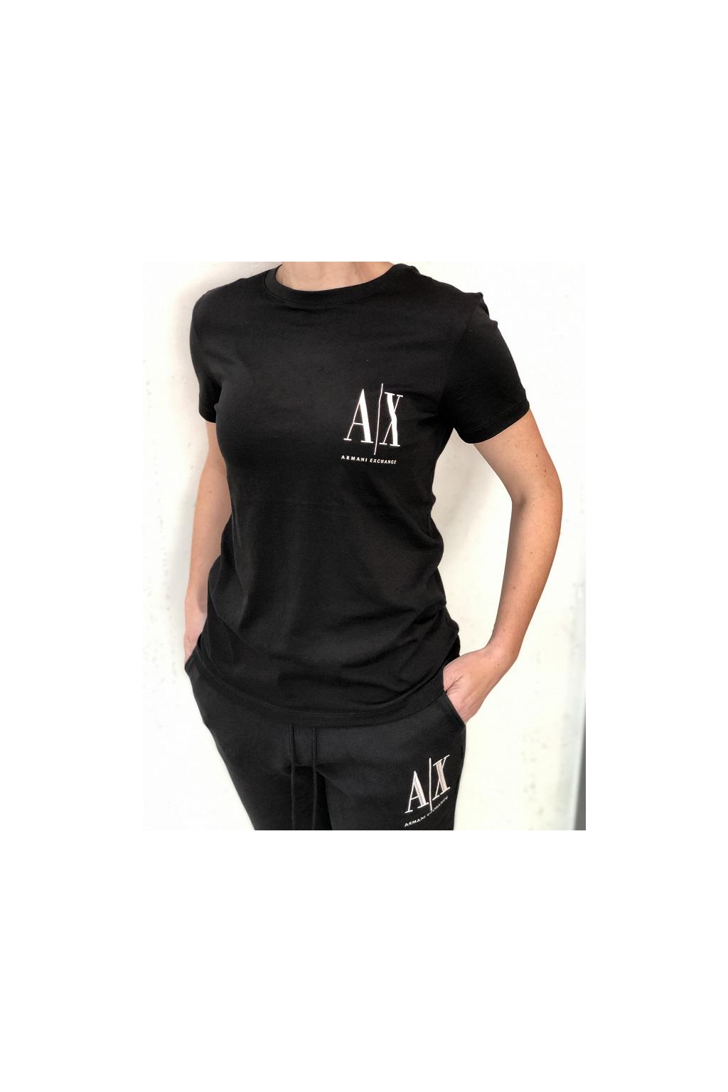 8NYTFX YJG3Z 1200 Dámské tričko Armani Exchange černé
