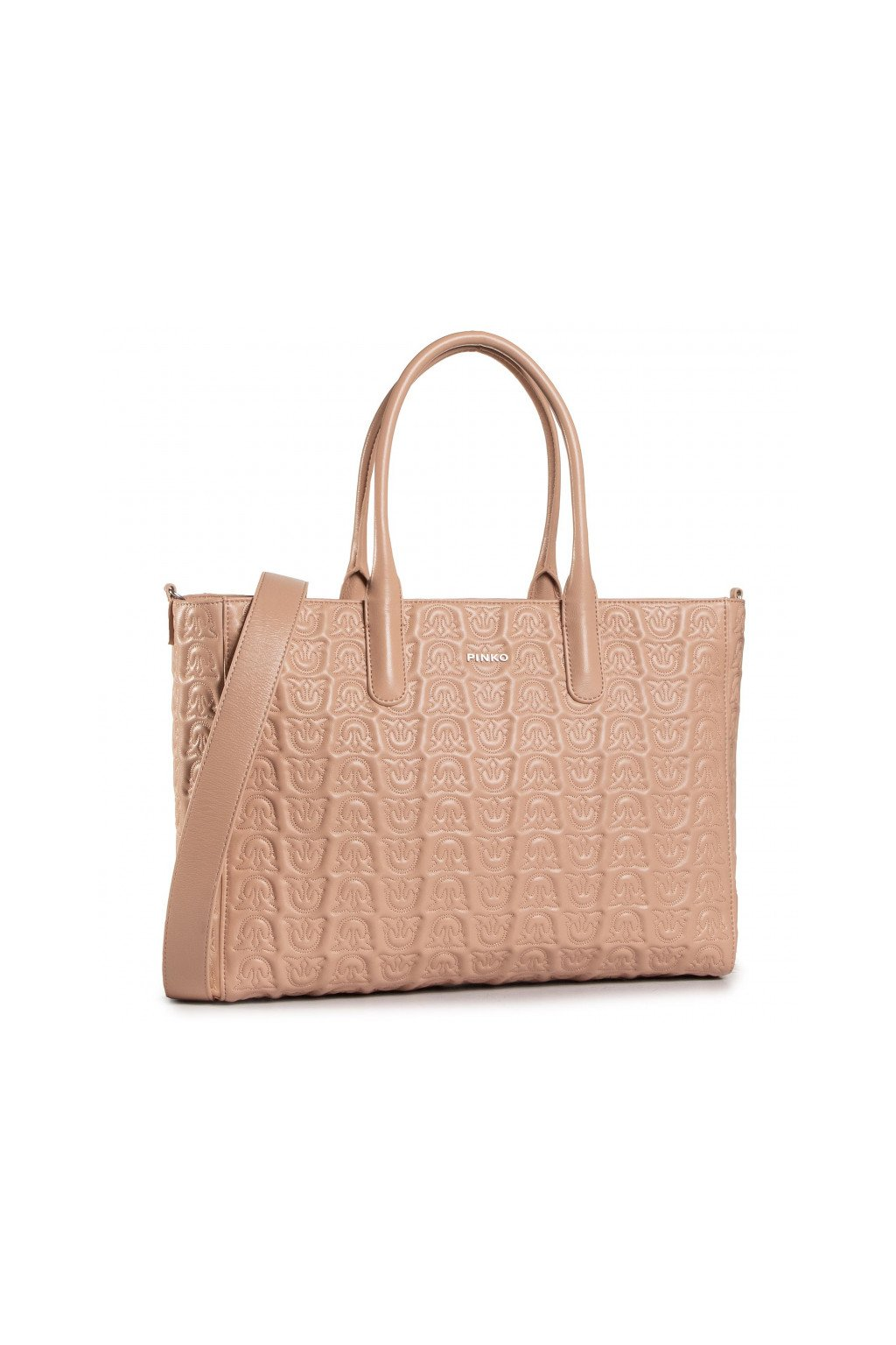 1P21XS Y6NXQ19 Dámská kabelka Pinko Love Shopping Monogram Leather růžová