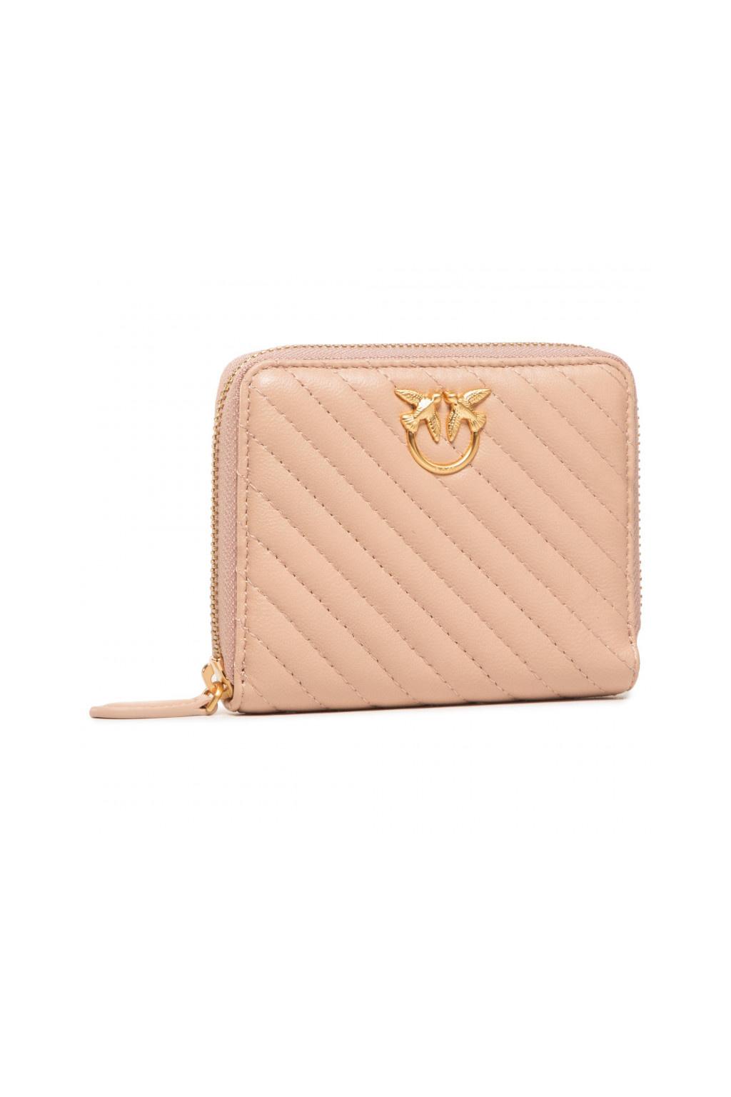1P21U7 Y6KT Q19 Dámská peněženka Pinko Taylor Wallet Zip Around m v růžová